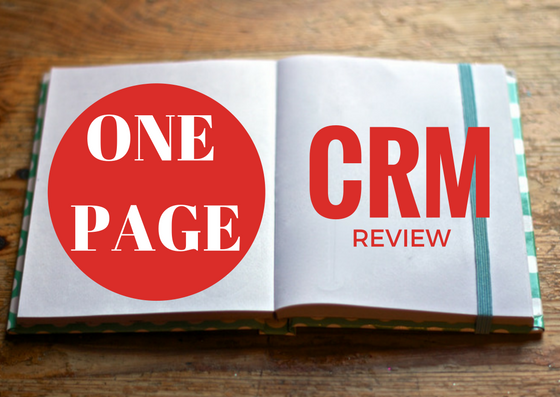 One Page CRM review after 3 months of use