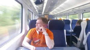 Train back from Cork